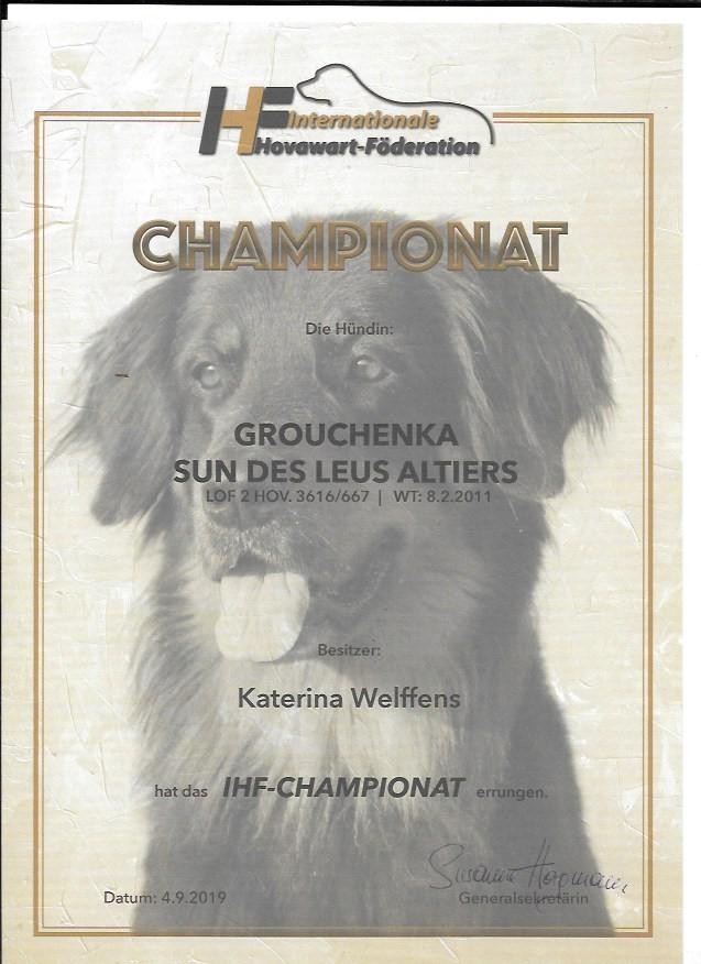 Grouchenka Sun des Leus Altiers Ch IHF